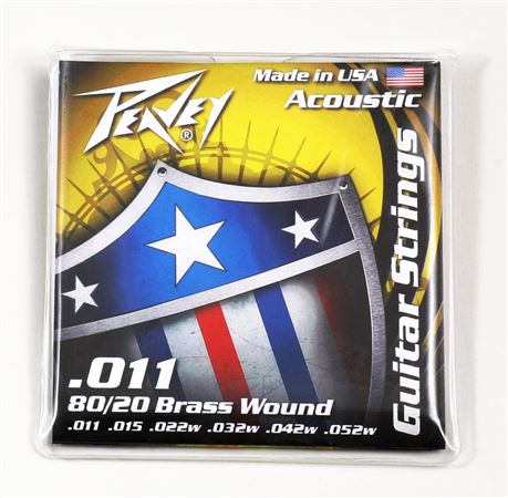80/20 Acoustic Guitar Stings Brass-Wound 11s