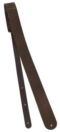 Premium Leather 2 Inch Guitar Strap - Brown