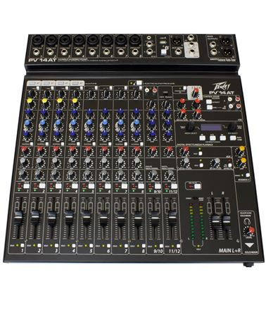 PV® 14AT Compact 14 Channel Mixer with Bluetooth and Antares® Auto-Tune