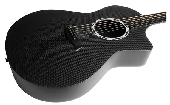 OX™ Satin Back Raw Carbon Fiber Acoustic Guitar with Trace Acoustic Onboard Preamp