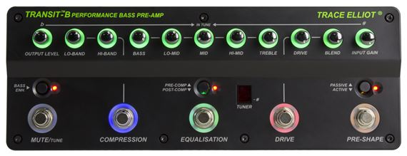 Trace Elliot® Transit™ B Bass Pre-amp & Effects Pedal