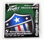 Stainless Steel-Wound 5-String Bass Strings XLS