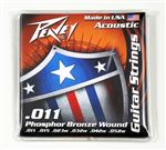 Phosphor Bronze-Wound Acoustic Guitar Strings 11s