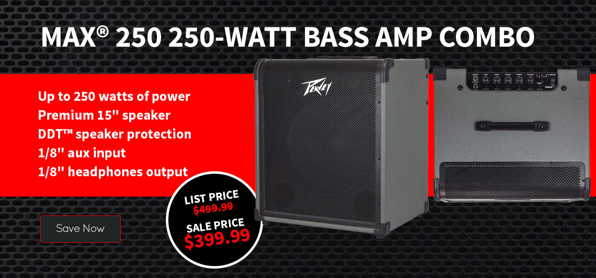 MAX® 250 250-Watt Bass Amp Combo