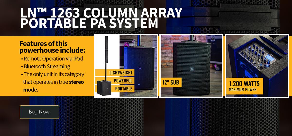 LN™ 1263 Column Array Portable PA System