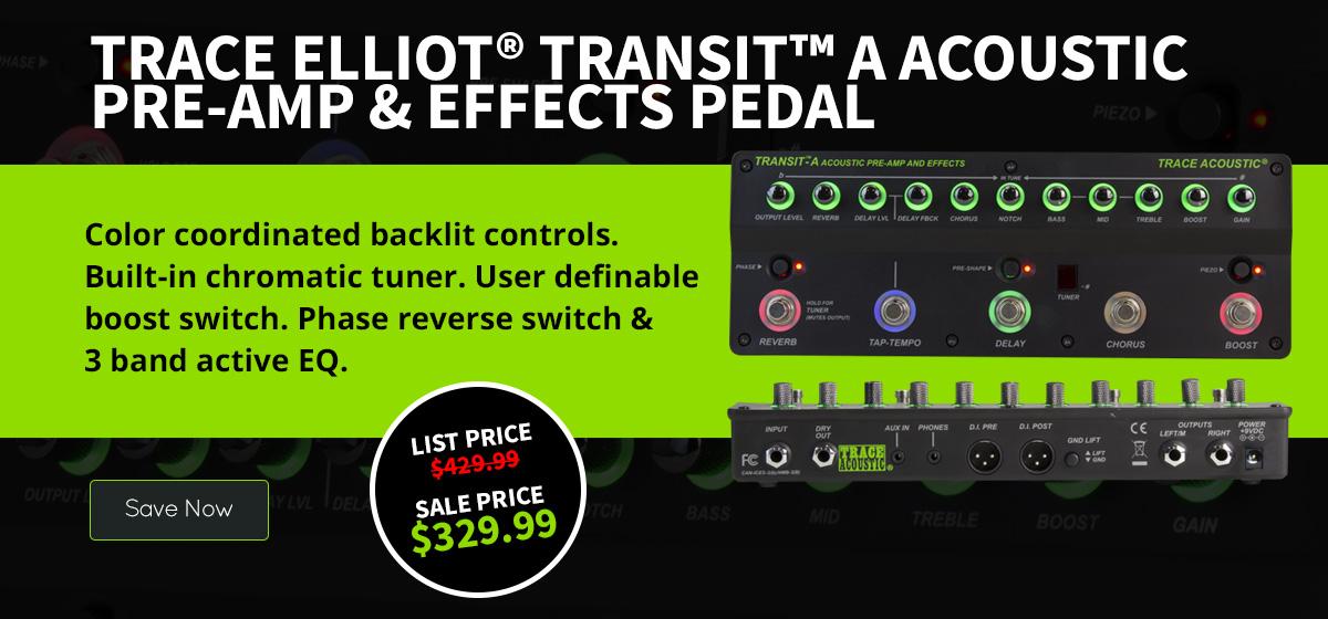 Trace Elliot® Transit™ A Acoustic Pre-amp & Effects Pedal