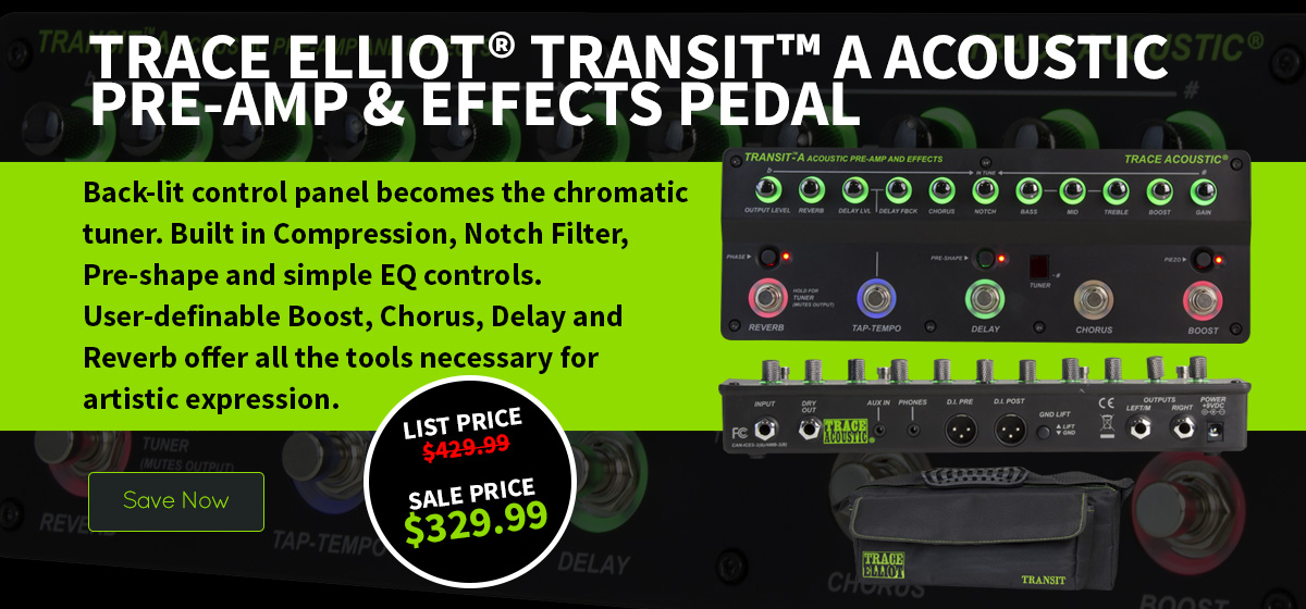 Trace Elliot® Transit™ A Acoustic Pre-amp & Effects Pedal
