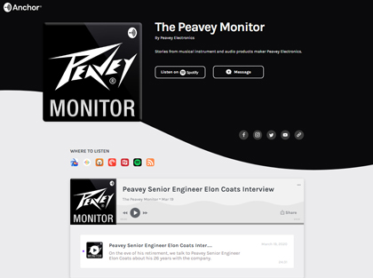 The Peavey Monitor Podcast Series